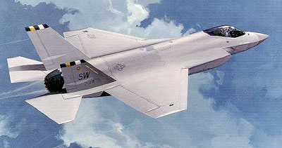 Tegning af Lockheed Martin X-35 (Joint Strike Fighter)